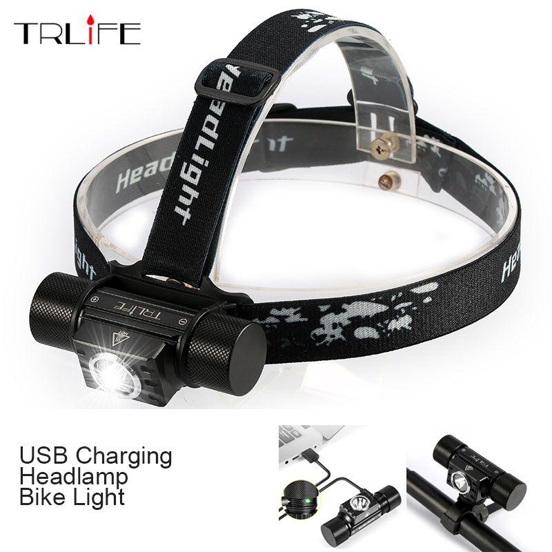 3000 <font><b>Lumen</b></font> CREE XPG2 S3 USB LED Headlight Waterproof Bike Light Headlamp with Smart Power Reminder