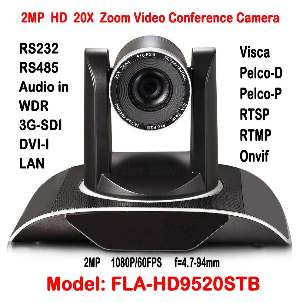2MP Hd 20X Zoom Videoconferencia Cámara Wifi O Inalámbrica HDSDI DVI H.265 IP Onvif Pan 340 grados de Rotación 255 Presets