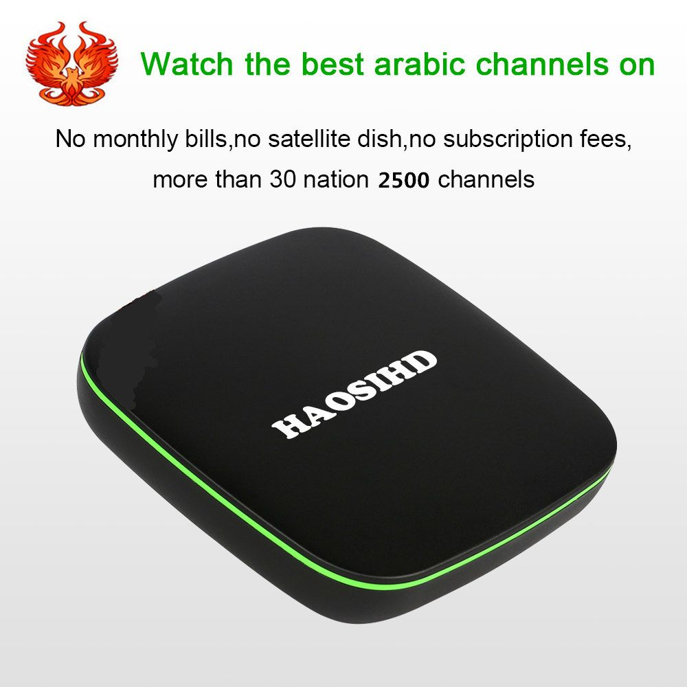 Free forever HAOSIHD A6 Arabic IPTV box free tv no monthly fee free HD 2500 Arabic Europe Africa America live tv