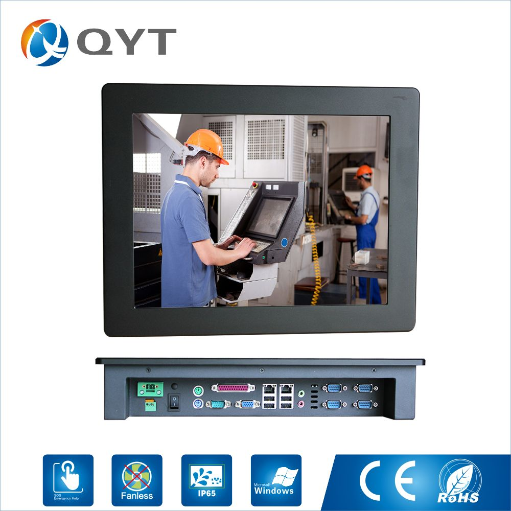 15'' Embeded PC ip 65 Touch Screen Resolution 1024x768 panel pc/Industrial Computer with Intel j1900 2.0GHz LPT 5*RS232