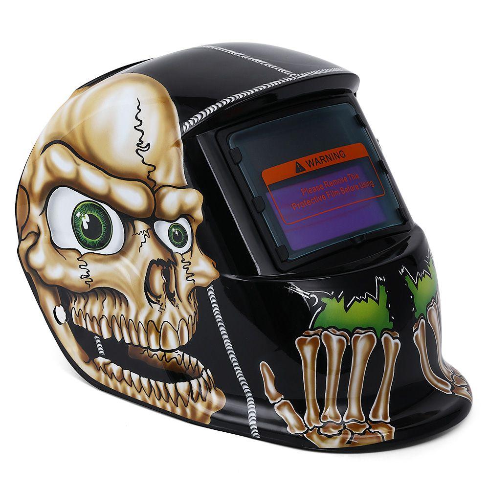Cool Skull Mask Helmet Solar Welding Helmet Auto Darkening MIG MMA Electric Welding Mask Welding Helmet Welder Cap Welding Lens