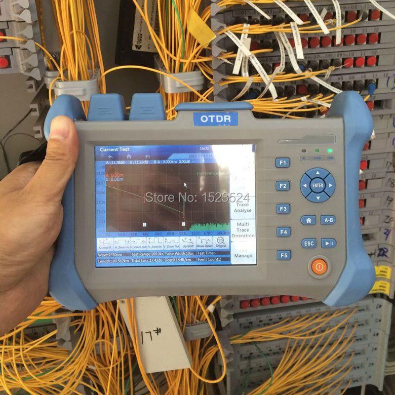 Singlemode 1310/1550nm 28/db in VFL Touchscreen Optical Time Domain Reflektometer Lichtwellen OTDR 90 KM