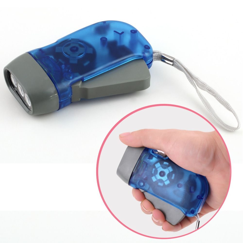 3 LED Dynamo Wind Up Taschenlampe Hand drücken Kurbel NR Keine Batterie Taschenlampe Hot Weltweit