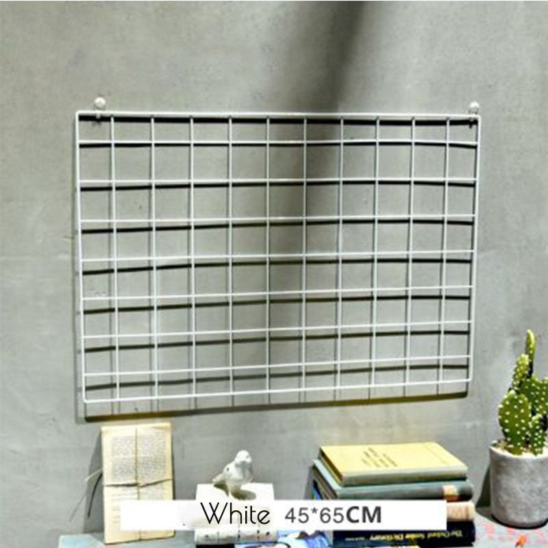 Hot sale Iron mesh grid photo wall iron frame clip hanging INS photographic fresh decoration creative personality Nordic shelf