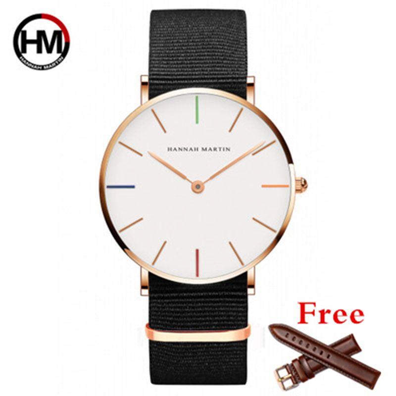 DW Style Mode Horloge Hommes Montre Top Marque De Luxe Quartz montre en Or Rose Mâle Sport Montres Reloj Hombre Relogio Masculino