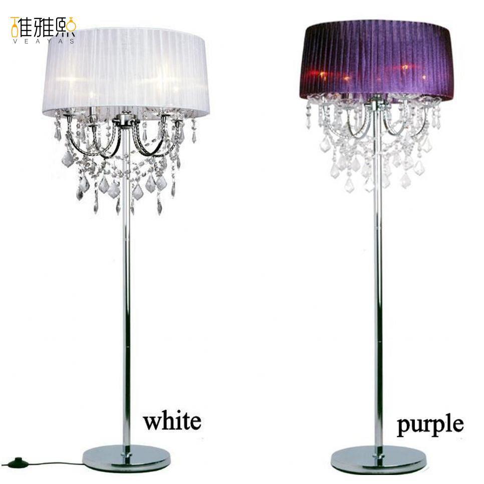 14 color lampshade 4 pcs bulb holder fabric lamp shade luminaire floor lamp
