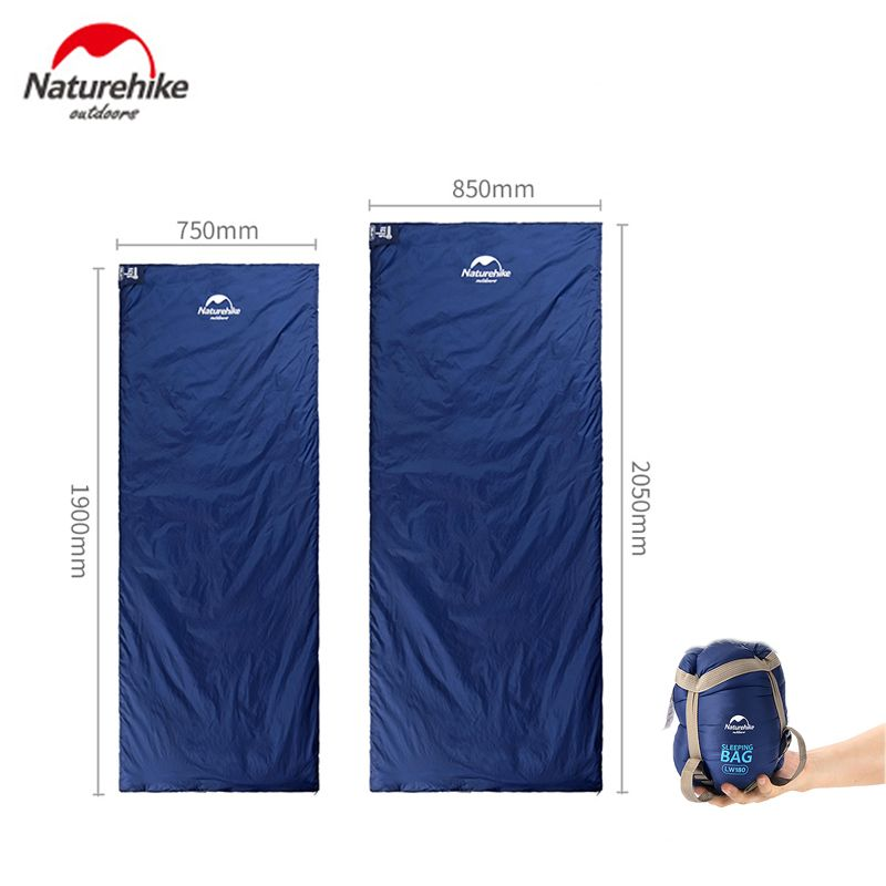 Naturehike Outdoor Envelope Sleeping Bag 190*75cm/205*85cm Camping Hiking Spring Autumn Sleeping Bag only 680g
