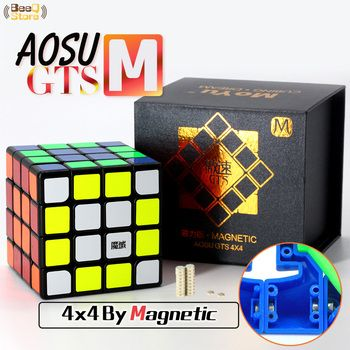 4x4 Moyu Aosu Gts M Magic Cube Magnetic Speed Cube Puzzle Profissional Competition Toy For Children With Magnets Magico Cubo