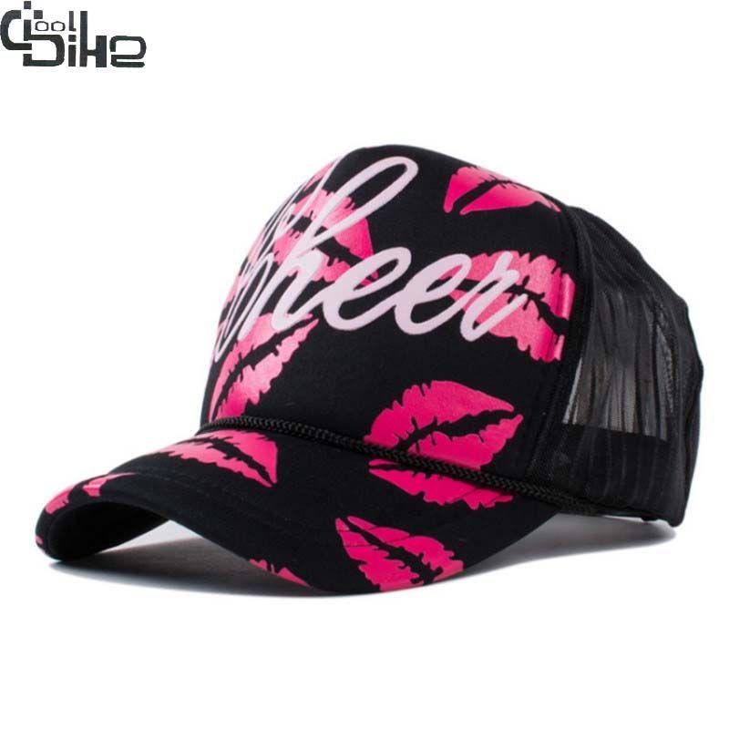 Модные, пикантные красные губы Snapback Бейсбол Шапки для Для женщин Snapback Кепки S Gorro feminino Для женщин Кепки Летние Женские Vogue шляпа Регулируемый