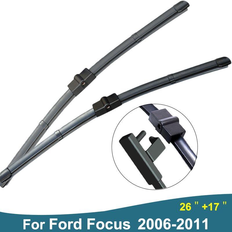 Высокое качество 2 шт. (Размеры 26 + 17') мягкие резиновые прокладки без костей автомобиль стеклоочистителей ветрового стекла Кисточки для Ford ...