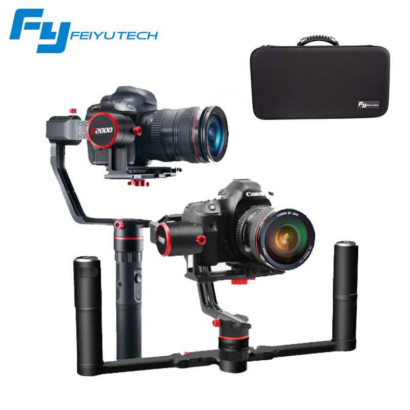FeiyuTech FEIYU a2000 3 Axis Gimbal DSLR Camera Stabilizer Dual Single Handheld Grip for Canon 5D SONY Nikon 2000g Payload