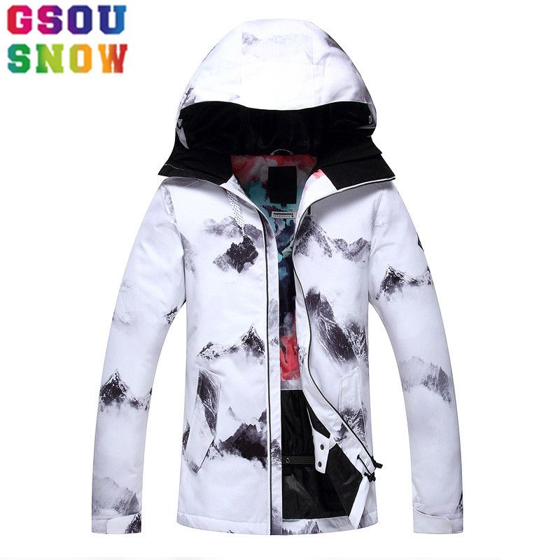 GSOU SNOW Waterproof Ski Jacket Women Snowboard Jacket Winter Cheap Ski Suit Outdoor Skiing Snowboarding Camping Sport Clothing