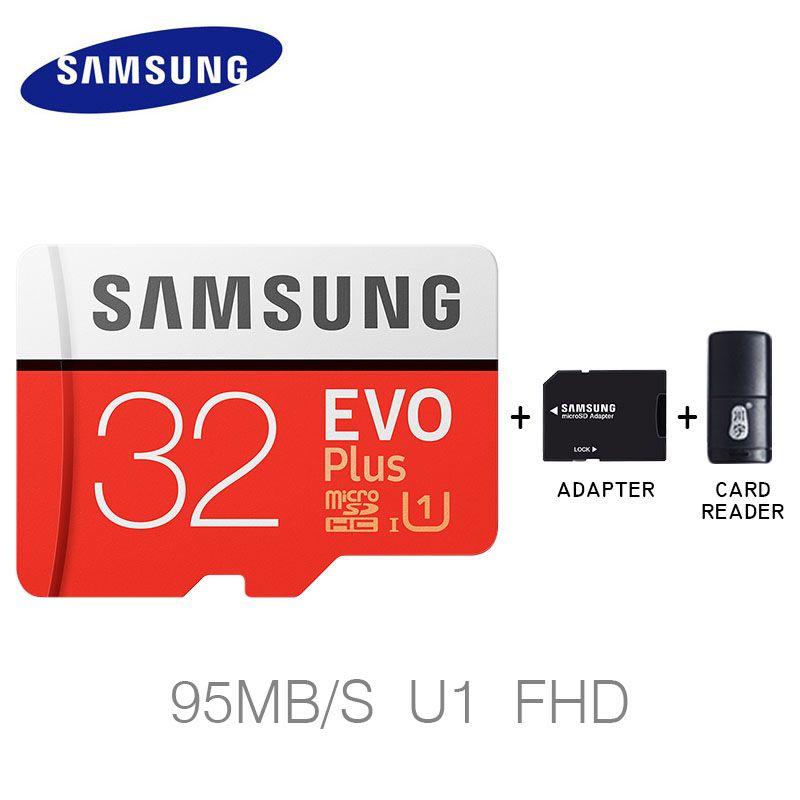 Tarjeta de memoria Samsung 256 GB Micro SD 32 GB 64 GB 128 GB SDHC SDXC grado Evo + Evo clase 10 C10 UHS TF trans flash Cartao de memoia