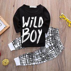 2016 automne bébé garçon vêtements À manches Longues Top + pantalon 2 pcs costume de sport bébé vêtements set nouveau-né vêtements pour bébés bebe