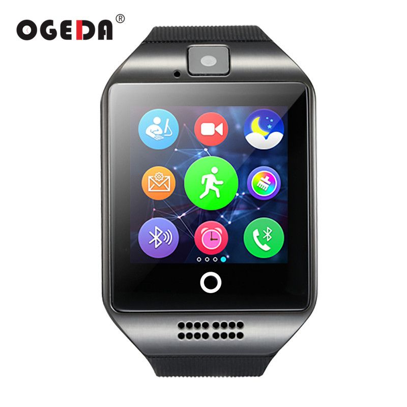 Smart Watch Q18 Passometer Smart Clock with Touch Screen Camera TF card Bluetooth Smartwatch for Android IOS Phone Men Watch