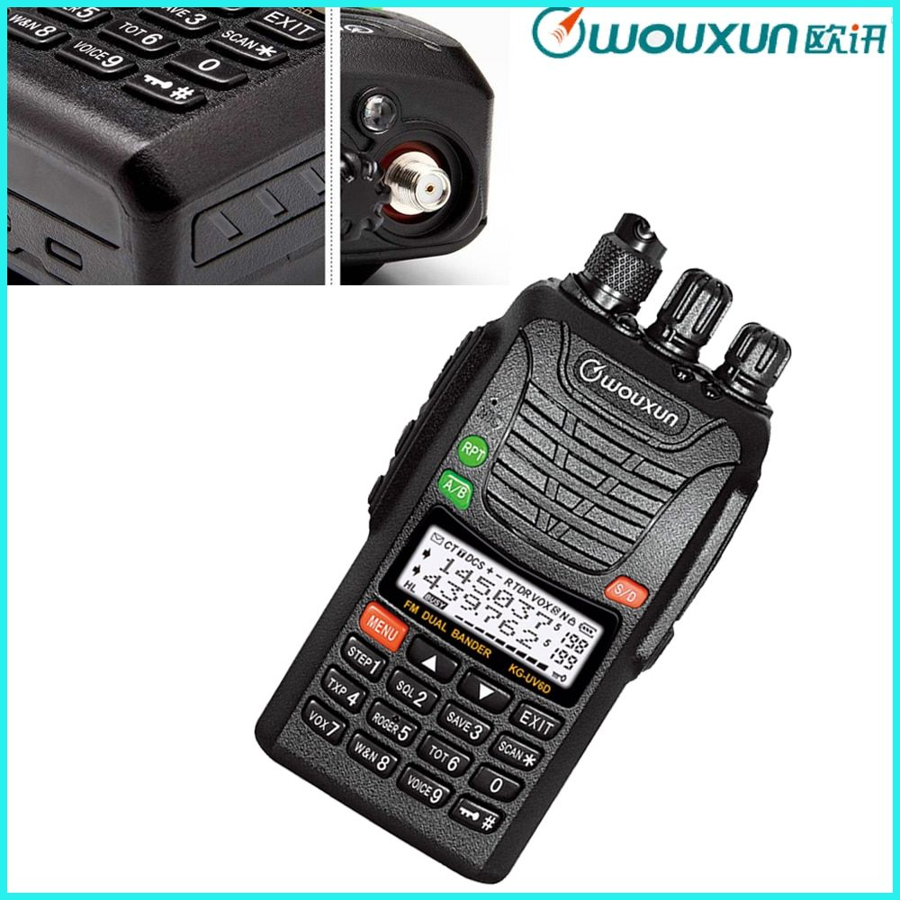 New Wouxun KG-UV6D Dual-Band 136-174&400-480MHz Ham Two Way Radio Black