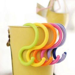 6 pcs Baru S Bentuk Multi-fonction Pemegang Plastik Kitchen Hanger Hooks Genggam