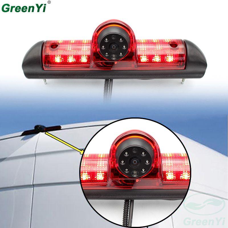 GreenYi Reversing IR Led Light Car Brake Light Rear View Camera For Citroen JUMPER III / Fiat DUCATO X250 / Peugeot BOXER III