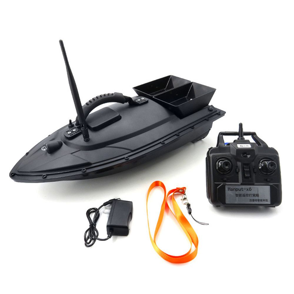 Wireless RC Fishing Bait Boat Remote Fish Finder Electric Fishing Bait Boat Double Motor Big Size 1.5kg Capacity 500M 5.4km/h