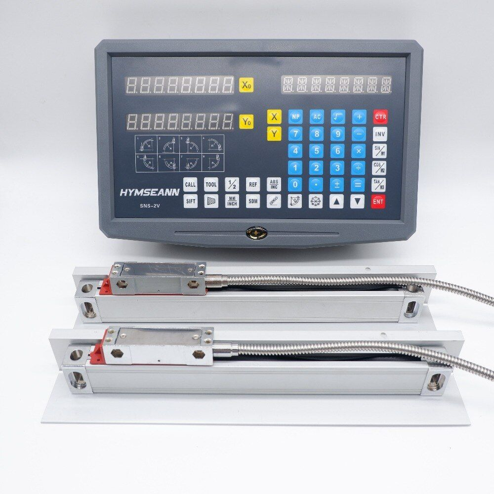 Neue SNS-2V Display 5um Fräsen Drehmaschine 2 Achse DRO Digital Anzeige und 0,005mm TTL EIA-422-A Digitale Lineare Skala Encoder sensor