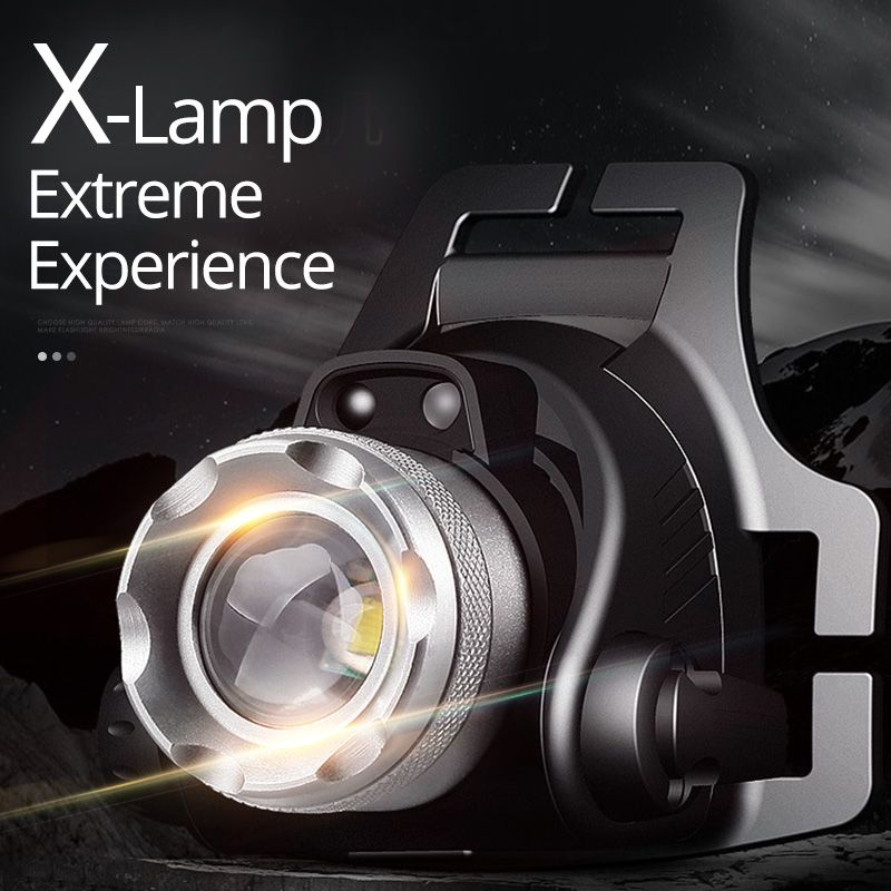 SHENYU IR Sensor LED Headlamp Rechargeable Zoomable 180 Degree Rotation Light Head Torch Cree XML-T6 L2 Headlight Hiking Camping