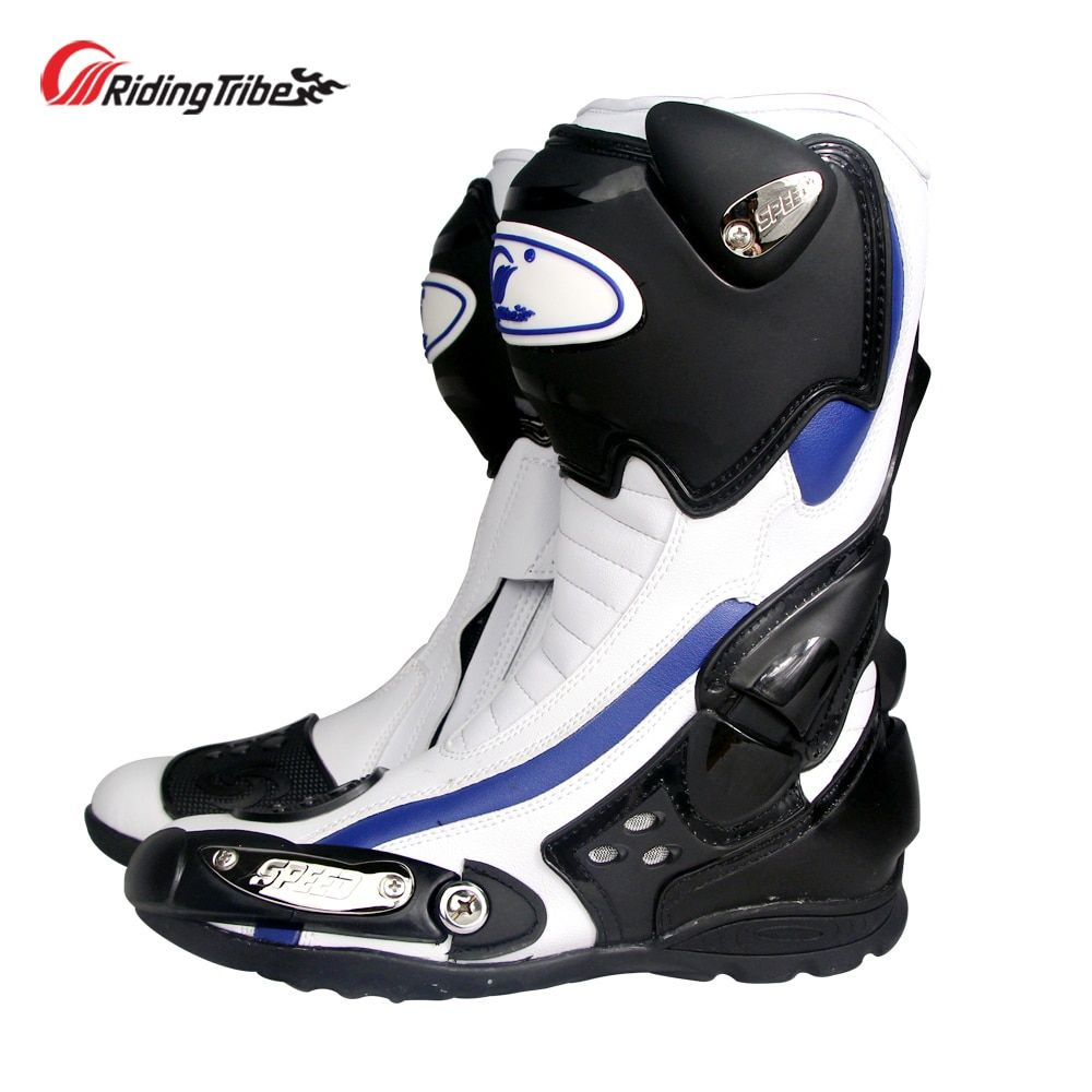 Riding Tribe Motorcycle Protective Boots Anti-skid Motocross Impact Resistent Motorbike Foot Guard Riding Shoes All Season B1002