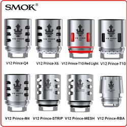 Eletronic Cigarette Vape Original SMOK TFV12 Prince Coil RBA Q4 M4 X6 T10 Light Mesh Strip Core Glass for V12 Prince Tank Mag