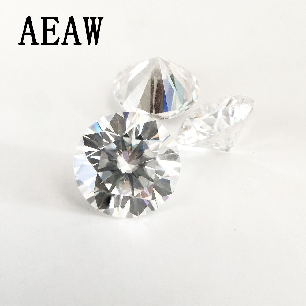 Round Brilliant Cut 0.8ct Carat 6mm F Color Moissanite Loose Stone VVS1 Excellent Cut Grade Test Positive Lab Diamond