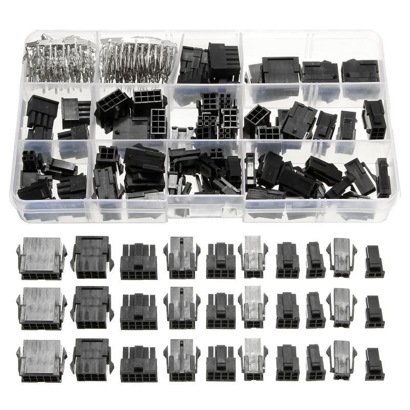New 82 Pcs 3.0mm Connectors + 200 Pcs Crimp Pins Electronic Components Kit With Case Connectors Set