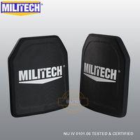 MILITECH Двойка 2,6 кг свет Вес Alumina & PE NIJ IV пуленепробиваемая панель Al2o3 NIJ level 4 Stand Alone баллистических Панель s