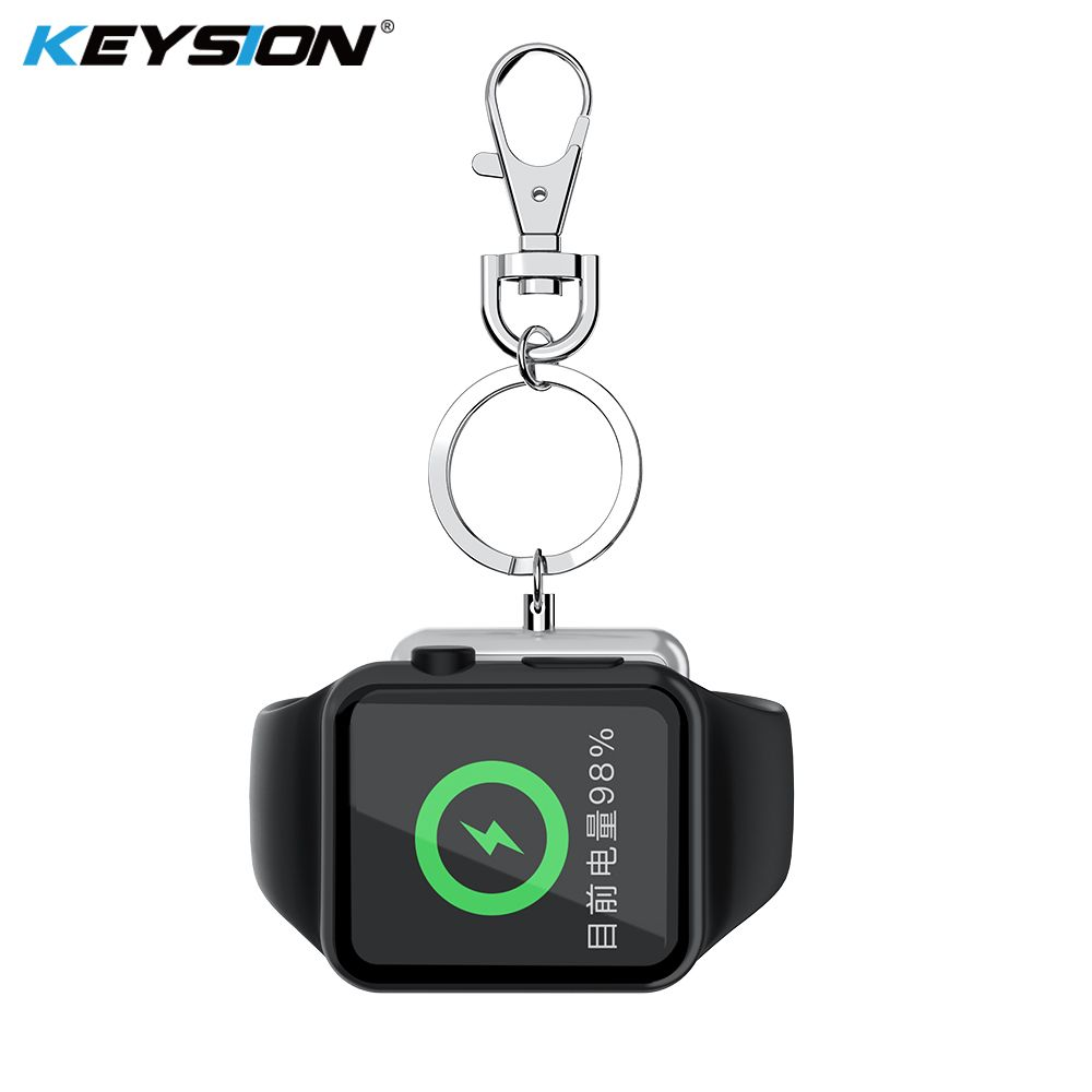KEYSION Wireless Charger for Apple Watch Series 4 3 2 1 Metal + Tempered Glass Magnetic Wireless Charging for Apple Watch 3 2 1