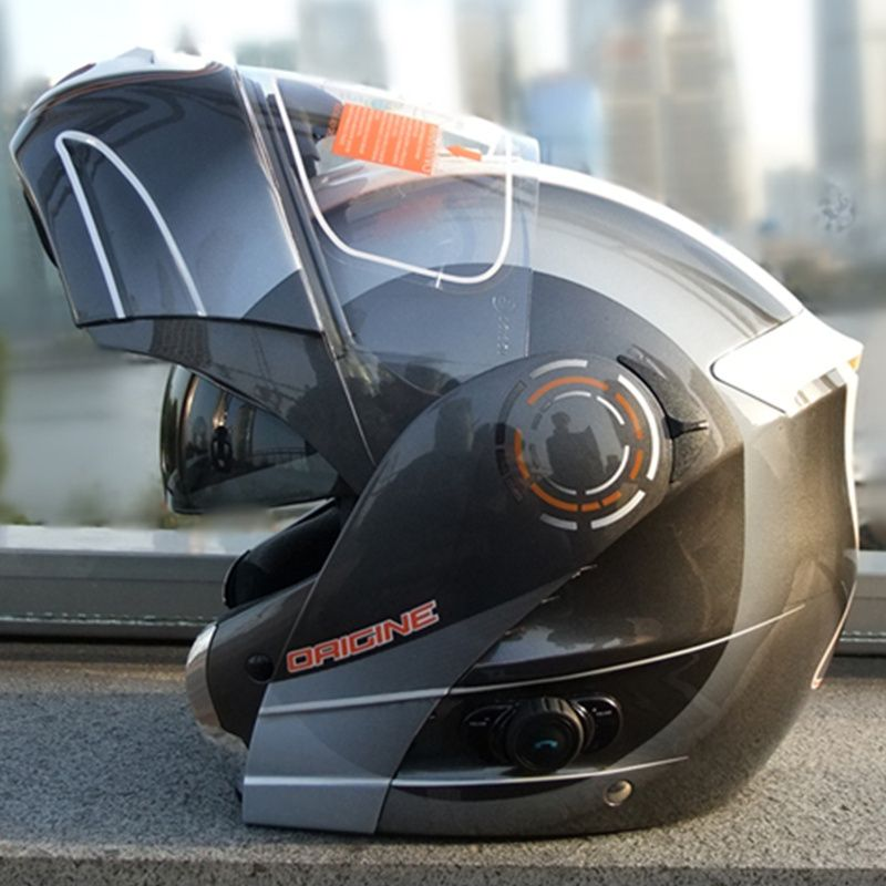 free shipping origine helmet motorcycle helmet with bluetooth intercom flip up dual shield sun-visor flip up helmet ECE