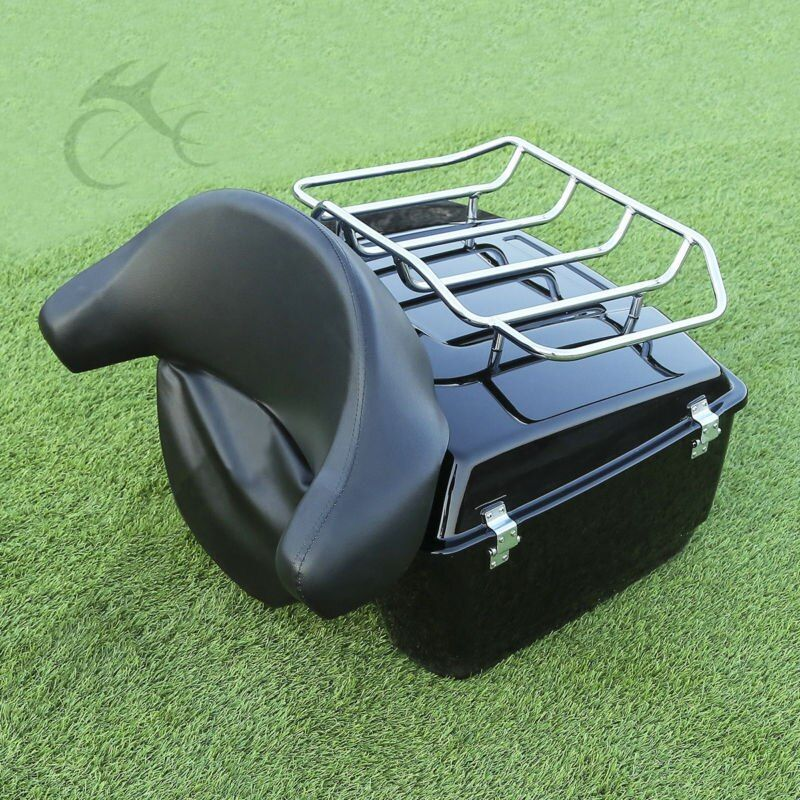 King Tour Pak Trunk Luggage Rack +Backrest For Harley Touring Road King Street Electra Glide Special 1997-2013 97 98 08 11 13