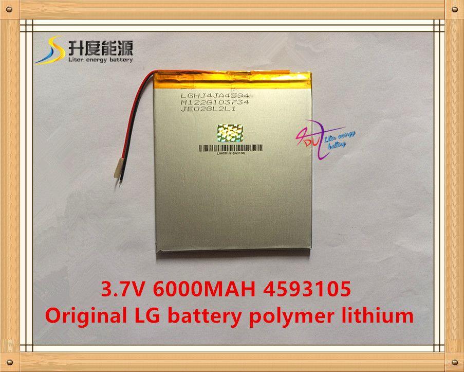 3.7 V, 6000 mAH, 4593105 D'origine L G batterie polymère au lithium ion batterie; SmartQ T20, VI40, A86 Dual Core P85 Tablet PC