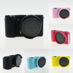 Souple En Silicone Sac pour Sony A5000 A5100 Caméra De Protection Cas de Couverture de Corps pour De Soja Alpha A5100 A5000 16-50mm Caméra Sac