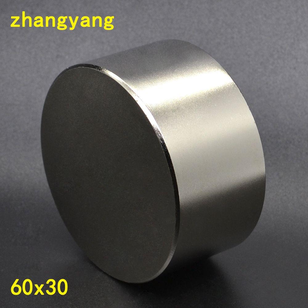 1 stücke neodym-magnet 60x30mm gallium metall neue super starke runde magnete 60*30 Neodimio magnet leistungsstarke permanent magneti