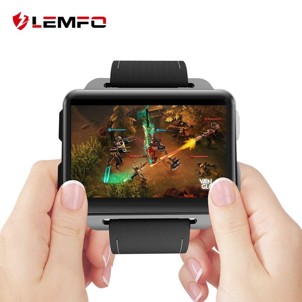 LEMFO LEM4 Pro Android Smart Uhr Telefon Unterstützung GPS SIM Karte MP4 Bluetooth WIFI Smartwatch Abendessen Großen Bildschirm Batterie 1 gb + 16 gb