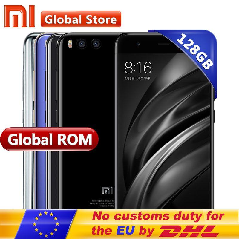 Original Xiaomi Mi6 Mi 6 128GB Rom 6GB Ram Android 7.1 Mobile Phone Snapdragon 835 Octa Core 5.15