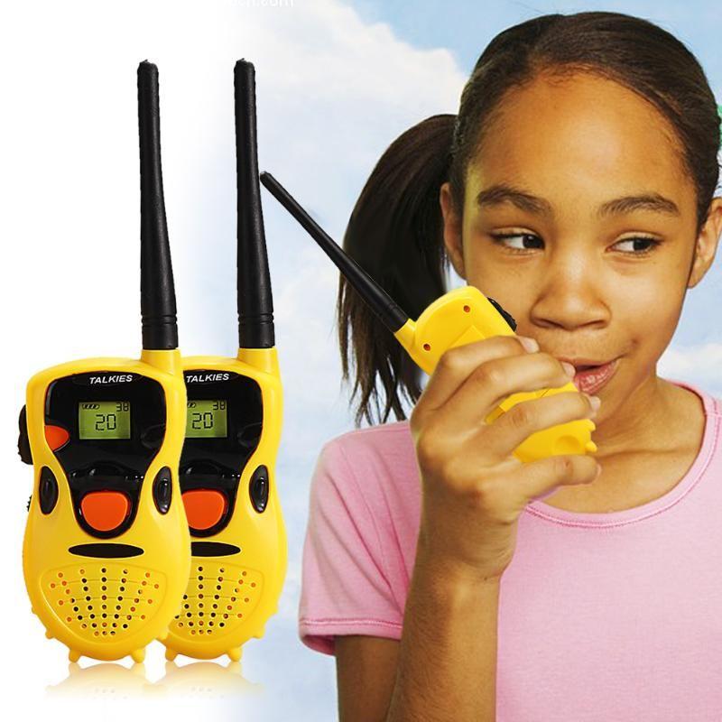 1Pair Handhold Walkie Talkie Toy Children Game Interactive Toy kid Cute Kid Radio Electronic Sounding Toys Interaction Toy