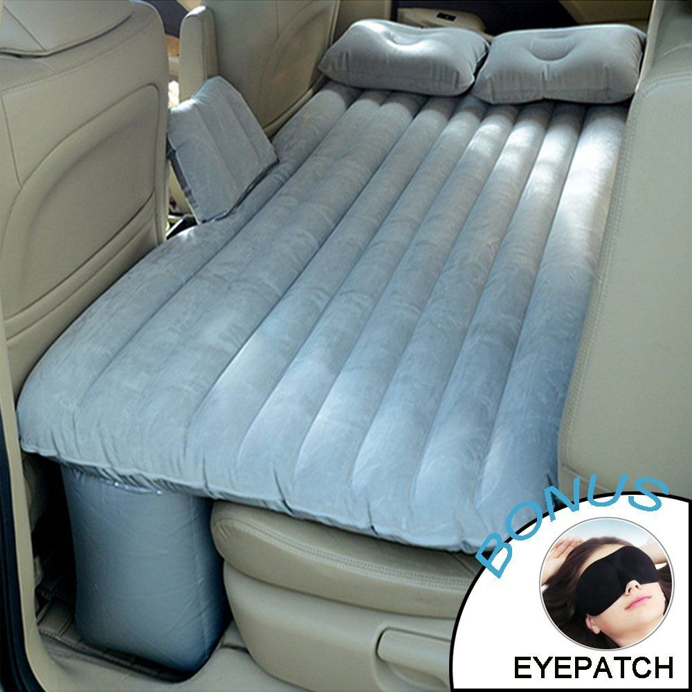 Big Ant Car Air Mattress Universal Inflatable Air Bed Back Seat Travel Multi-functional Extended Air Couch Two Pillows (Gray)