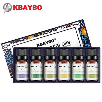 Эфирные масла для диффузора, Ароматерапия масло увлажнитель 6 видов аромат лаванды, Чай дерево, розмарина, лимонника, оранжевый