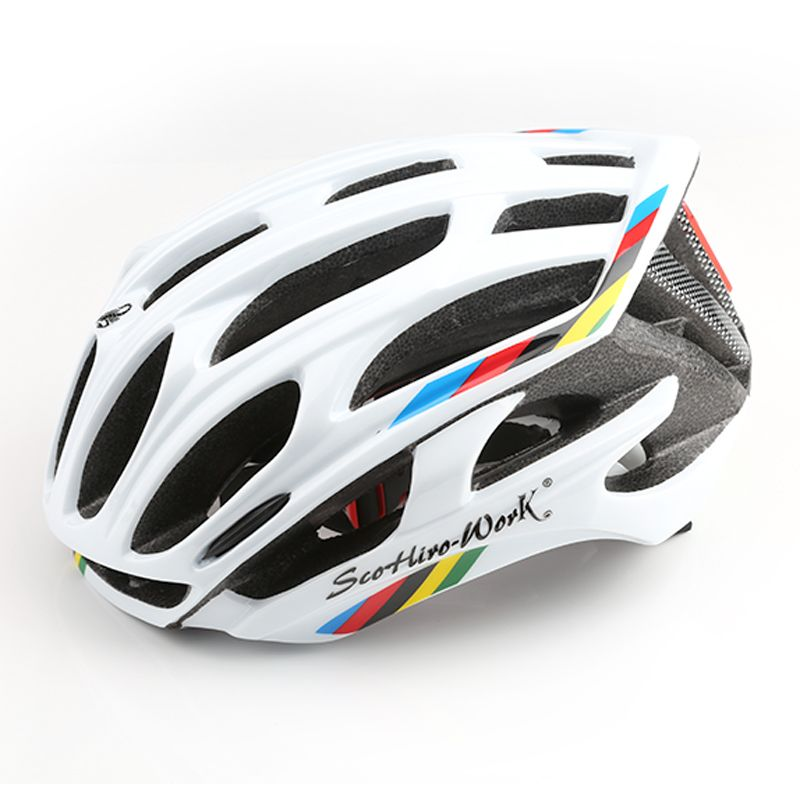 Bicycle Helmet Integrally-molded Cycling Helmet Road Mountain MTB casco ciclismo Ultralight Bike Helmet With LED Warning Lights