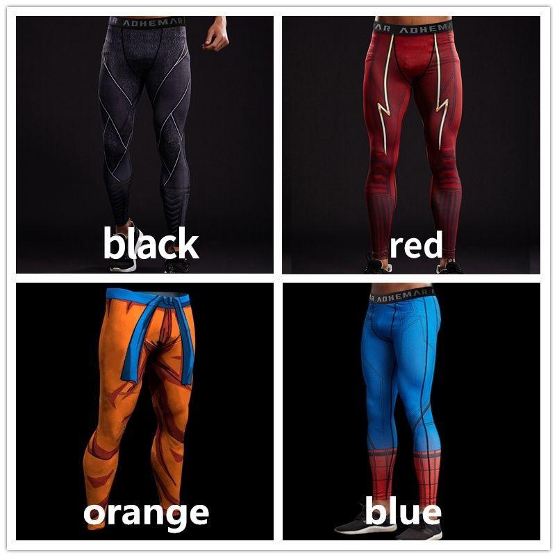 Spiderman 3D imprimé motif Compression collants pantalons hommes pantalons de survêtement Captain America Fitness Skinny Leggings pantalon homme