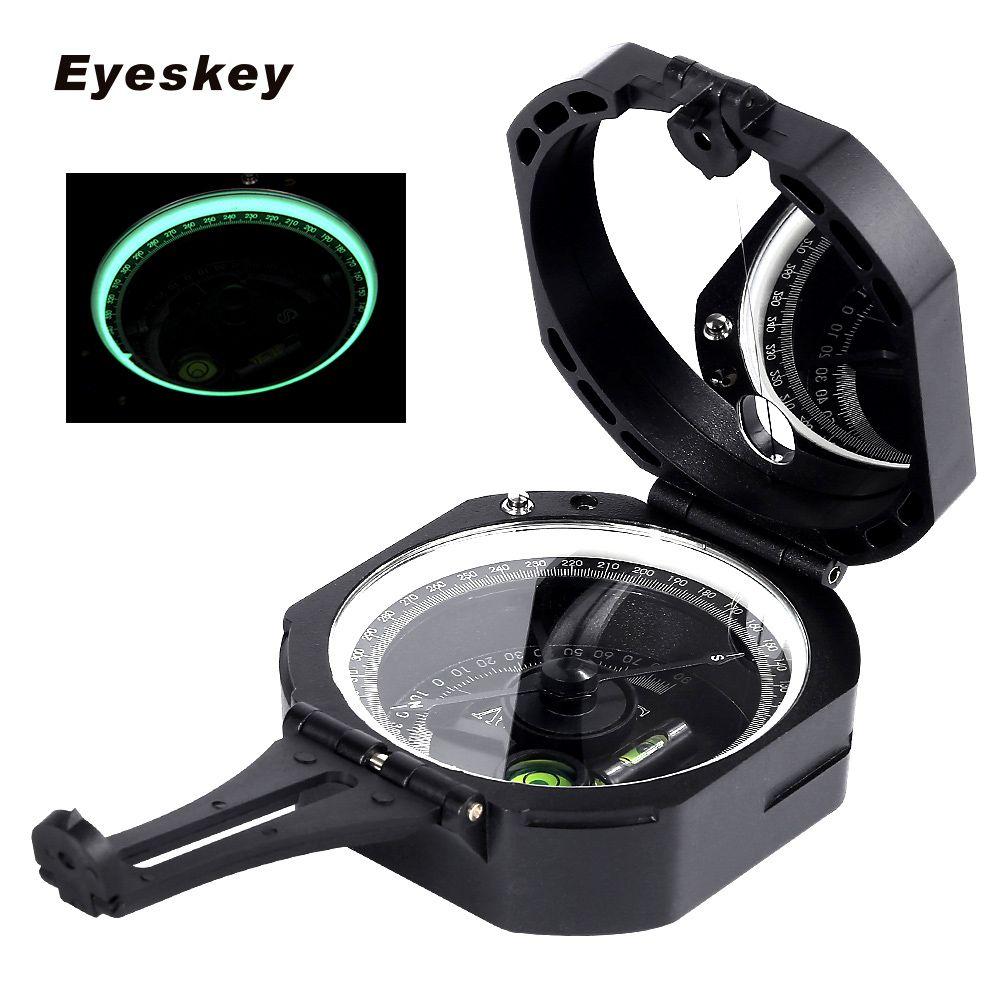 Eyeskey Профессиональный геологических компас легкий Военный компас Открытый выживания туристическое снаряжение Карманный компас
