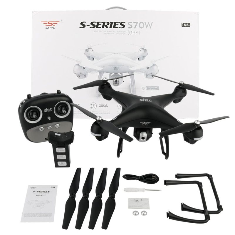 SJRC S70W Dual GPS Follow Me WIFI FPV RC Drone Helicopter 400M Distance 1080P HD camera GPS position quadcopter vs X183 x21