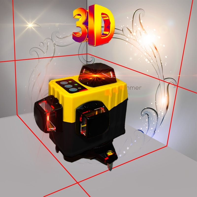 Small Strong Red 12-Wire Laser 3D Wall Monitor 360-degree Automatic Horizontal Tilt Function 6 Vertical Crossover