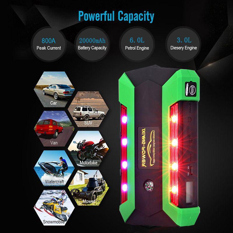 JKCOVER High Power Bank 20000 mah 800A Spitzenstrom Auto Starthilfe Auto batterie-60C Entladung Telefon Ausgangs booster multi-Spaß