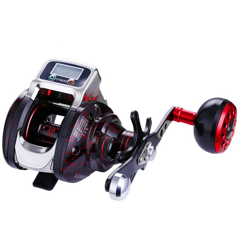 YUYU Digital Display Fishing Reel with battery Baitcast Reel Counter 14+1BB 6.3:1 Bait casting reel One-way Metal fishing Coil