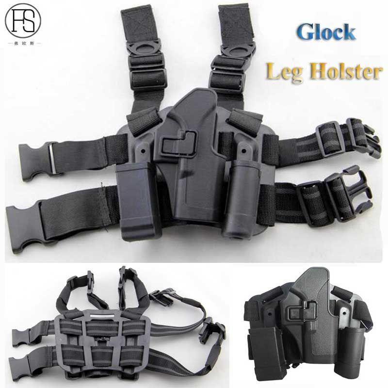 Hot!Glock Leg Holster Tactical Military Combat Thigh Holster Hunting <font><b>Shooting</b></font> Gun Holster Glock 17 19 22 23 31 32