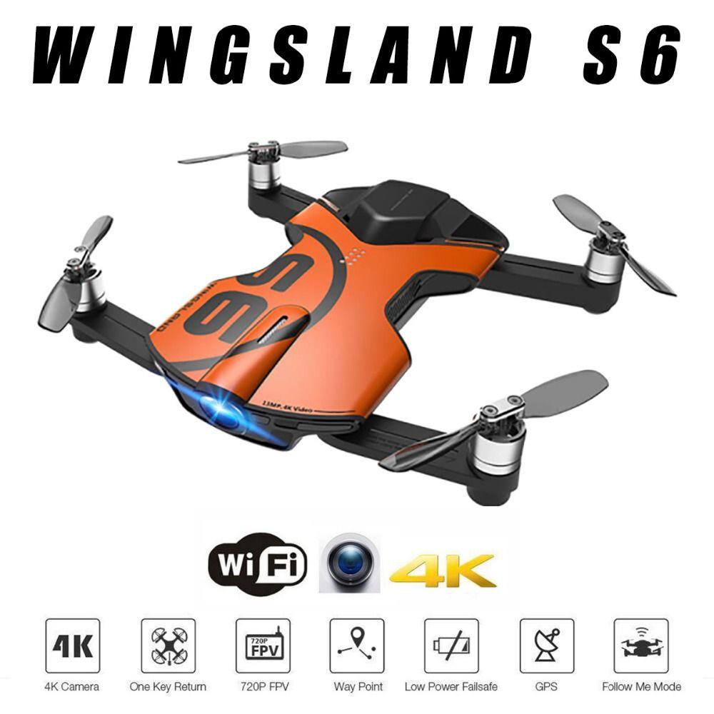 Hot Billig GPS Drone Wingsland S6 Tasche Selfie Drohne WiFi FPV Mit 4 karat UHD Kamera Umfassende Hindernis Vermeidung